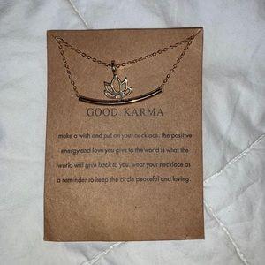NWT 'Good Karma' Gold Pendant Necklace